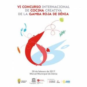 cartel anunciador del 6 concurso internacional de la gamba roja de denia, bohosuitesdenia